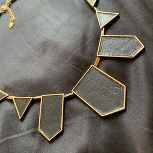 House of Harlow Leather Geometric Necklace